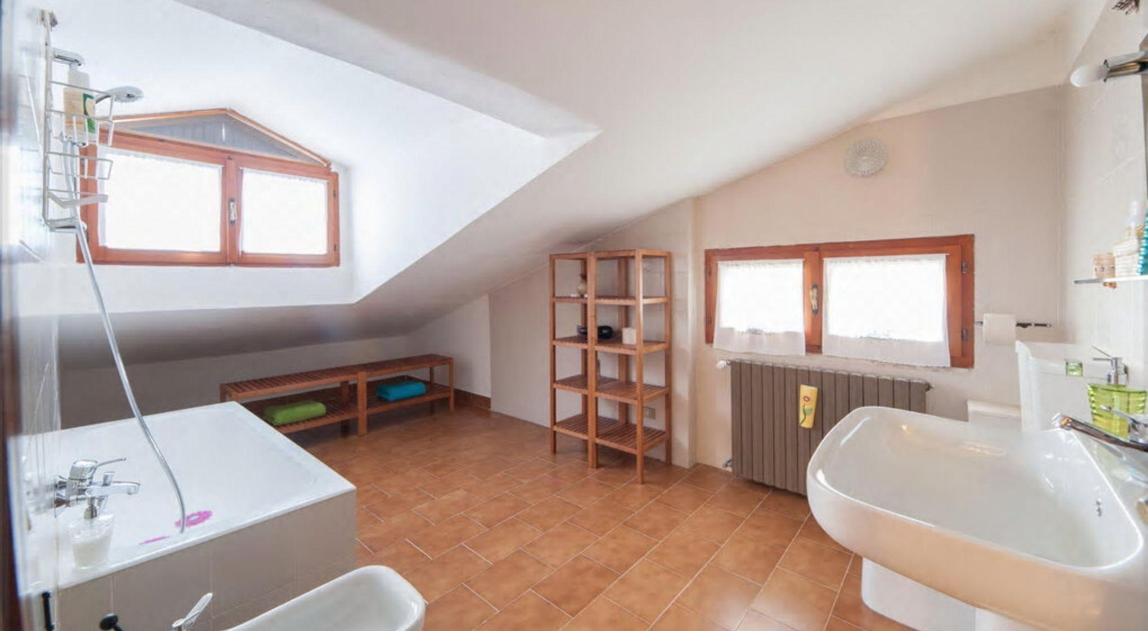 Il bagno della camera Lavanda