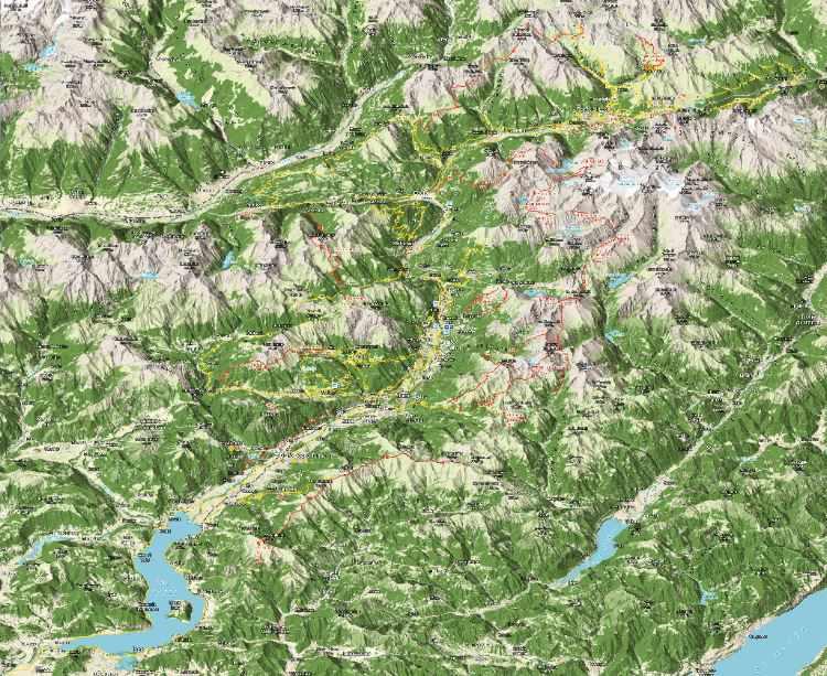 Valle Camonica: la mappa