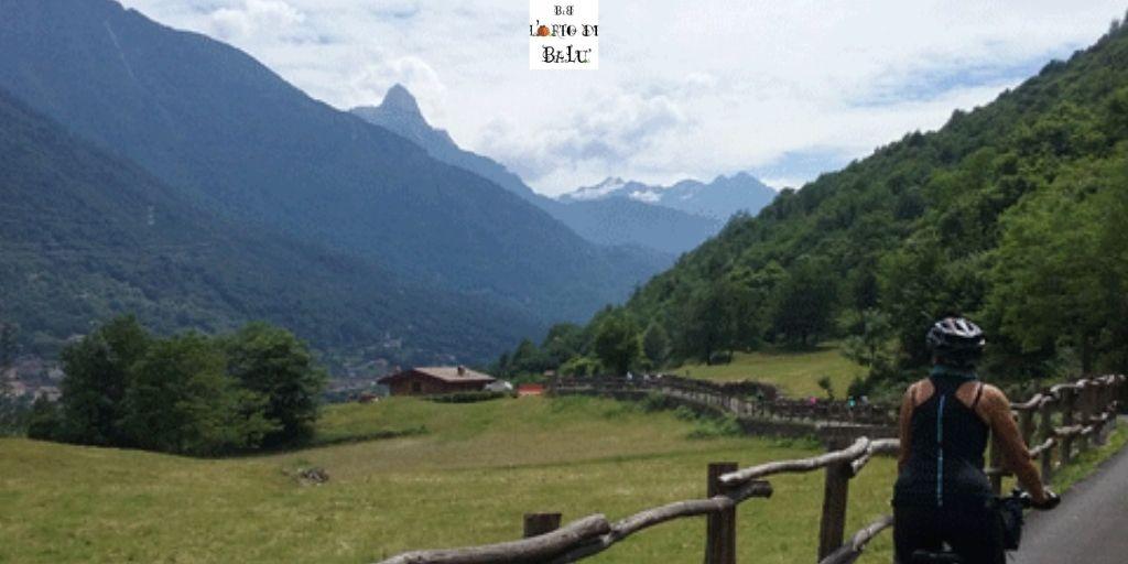 ciclovia dell'Oglio: uno dei tratti in Valle Camonica